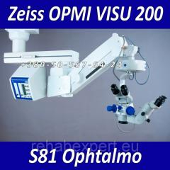 Operational Ophthalmologic microscope of Carl