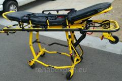 STRYKER Rugged Easy-Pro Ambulance Stretcher with Mounting Hardware