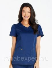 Female blouse of Med-Expert V-Neck Top 803