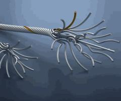 Провода стальные многопроволочные для передачи электрической энергии и сердечники проводов