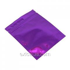Дой-пак пакет с застежкой zip 140мм х 240мм сиреневый
