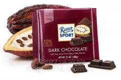Chocolate of black 50% of cocoa. RITTER SPORT Dark