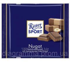 Chocolate. Ritter Sport of the Praline, 100 g