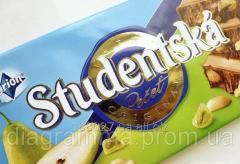 Chocolate. Studentska Pecet dairy with a peanut,