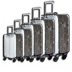 Ransparent cover on a suitcase