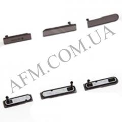 Боковая заглушка Sony D5503 Xperia Z1 Compact Mini,   чёрная,   полный комплект (3 шт.)