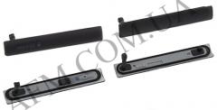 Боковая заглушка Sony D5803/  D5833 Xperia Z3 Compact Mini,   черная,   полный комплект (2 шт.)