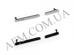 Боковая заглушка Sony D6603/  D6643/  D6653 Xperia Z3,   серебристая,   полный комплект