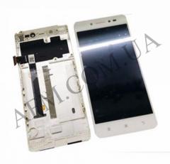Дисплей (LCD) Lenovo S90 с сенсором белый + рамка