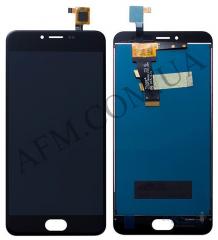 Дисплей (LCD) Meizu M3 с сенсором черный