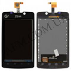 Дисплей (LCD) ZTE V880s с сенсором черный