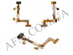 Шлейф (Flat cable) LG P700/  P705 с разъемом наушников,   кнопкой включения,   датчиком приближения