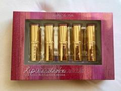 Set of 5 Jasmine La Belle Cosmetics lipsticks of