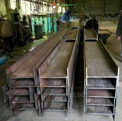 The beam is steel welded