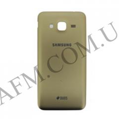 Задняя крышка Samsung J320H/  DS Galaxy J3 (2016) золотистая