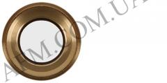 Стекло камеры iPhone 6S Plus золотистое + кольцо