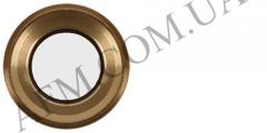 Стекло камеры iPhone 6S золотистое + кольцо