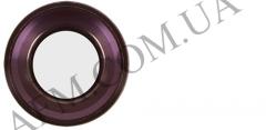 Стекло камеры iPhone 6S розовое + кольцо