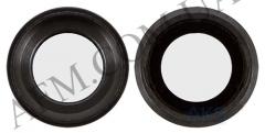Стекло камеры iPhone 6S чёрное + кольцо