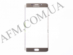 Стекло экрана Samsung G928 Galaxy S6 EDGE+,   золотистое