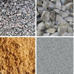 Crushed stone granite, sand