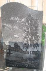 Пейзажи,изображение на гранитних плитах.