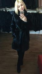 Fur coat from fur of a nutria of Katharine