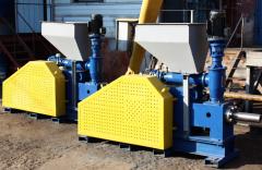 Пресс ударно – механический ПБ – 75. Производительность 500 – 800 кг/час. Оборудование для производства топливных брикетов типа nestro