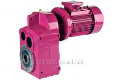 Цилиндрический мотор-редуктор вертикального типа D