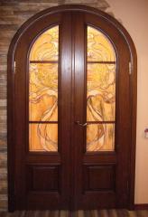 Двери межкомнатные арочные из натурального дерева