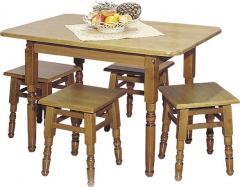 Столы кухонные из натурального дерева