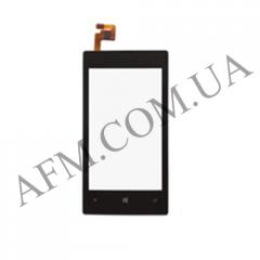 Сенсор (Touch screen) Nokia 520 Lumia черный копия + рамка