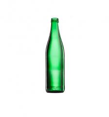 Стеклянная бутылка зеленая для минеральной...