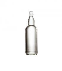 Стеклянная бутылка для пива бесцветная 1000 ml, Swing stopper