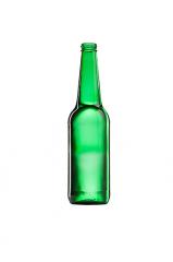 Стеклянная бутылка для пива зеленая 500 ml, Twist crown