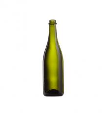 Стеклянная бутылка для шампанского 750 ml, Champagne, цвет оливковый