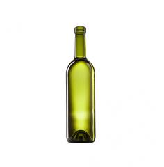 Стеклянная бутылка для вина 750 ml, Bartop, цвет олива