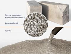 Chemistry for SDO polysterene concrete, CHB, SDO-L