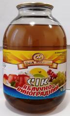 Сок яблочно-виноградный 3л.