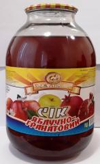Сок яблочно-гранатовый 3л.