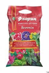 """Торфяной субстрат Бегония """"ТМ Флорин"""" 3л для всех видов растений"""