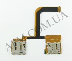 Конектор Sim и карты памяти для HTC One mini 2,   на шлейфе,   на две SIM- карты