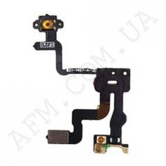 Шлейф (Flat cable) iPhone 4 кнопки включения,   подсветки дисплея,   с компонентами