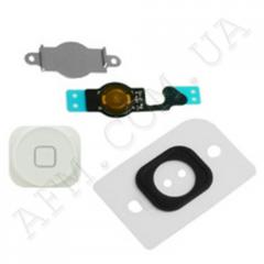 Шлейф (Flat cable) iPhone 5 кнопки меню и белой пластиковой накладкой