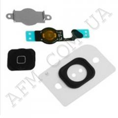 Шлейф (Flat cable) iPhone 5 кнопки меню и черной пластиковой накладкой