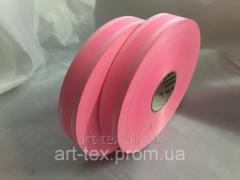 Лента Ст 2/100 атласный край розовый