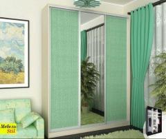 Шкаф-купе для спальни на 1,8м с фасадом зеркало +