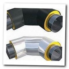 Колено теплоизолированное ППУ для стальной трубы 325/450 мм в ПЕ оболочке земля