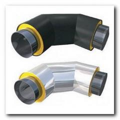 Колено теплоизолированное ППУ для стальной трубы