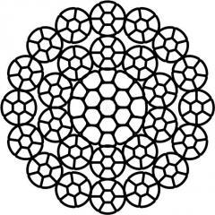 КАНАТ СТАЛЬНОЙ STS 034   16х7(1+6)К+10х7(1+6)К+1х19(1+6+6/6)К